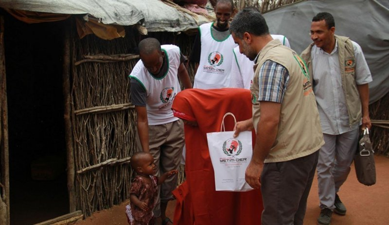 Kurban Verteilung im Dadaab Flüchtlingslager