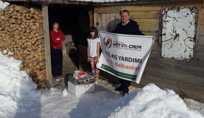 Avrupa Yetim-Der'den Karadağ'a 'Kış Yardımı'