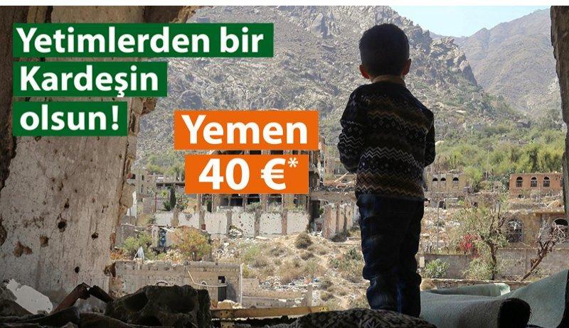 """Yemen'de """"Yetimlerden Bir Kardeşin Olsun"""" Projesi"""