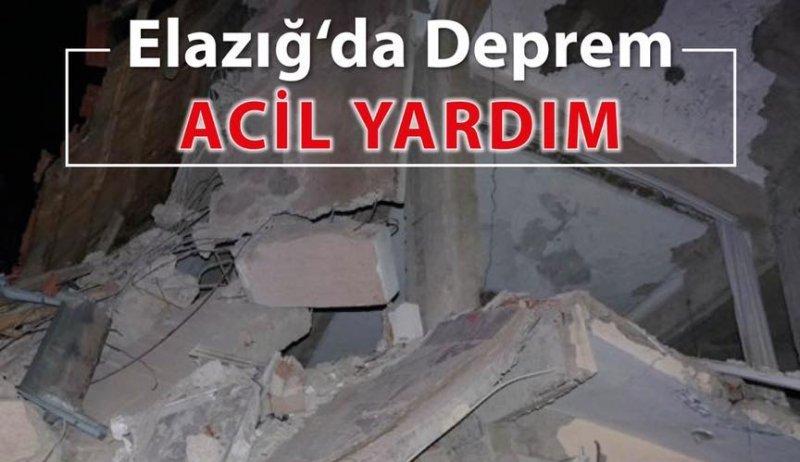 Avrupa Yetim-Der'den Elazığ Depremi için ACİL YARDIM çağrısı