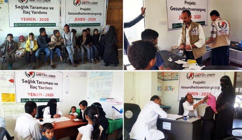 Avrupa Yetim-Der hasta düşen çaresiz Yemenli mağdurları tedavi ediyor
