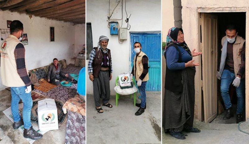Evden çıkamayan yaşlı ve hastalara yardımlarımız devam ediyor