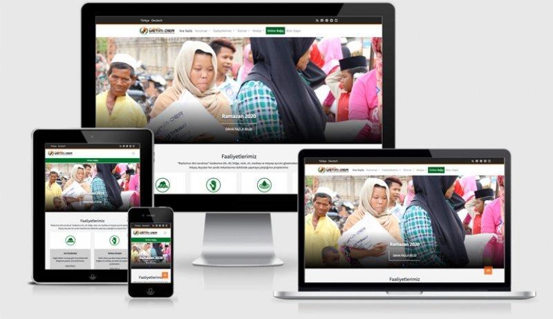 İnternet sitemizin yeni arayüzü ve Online Bağış hizmetinizde